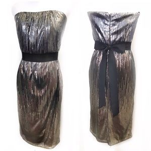 Badgely Mischka 8 Black Sequin Dress Sweetheart